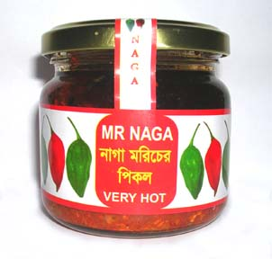 mr naga Want to know what the most under-rated export is from bangladesh it is mr naga - a fantastically tasty pickle made from naga chillis and of world class quality.